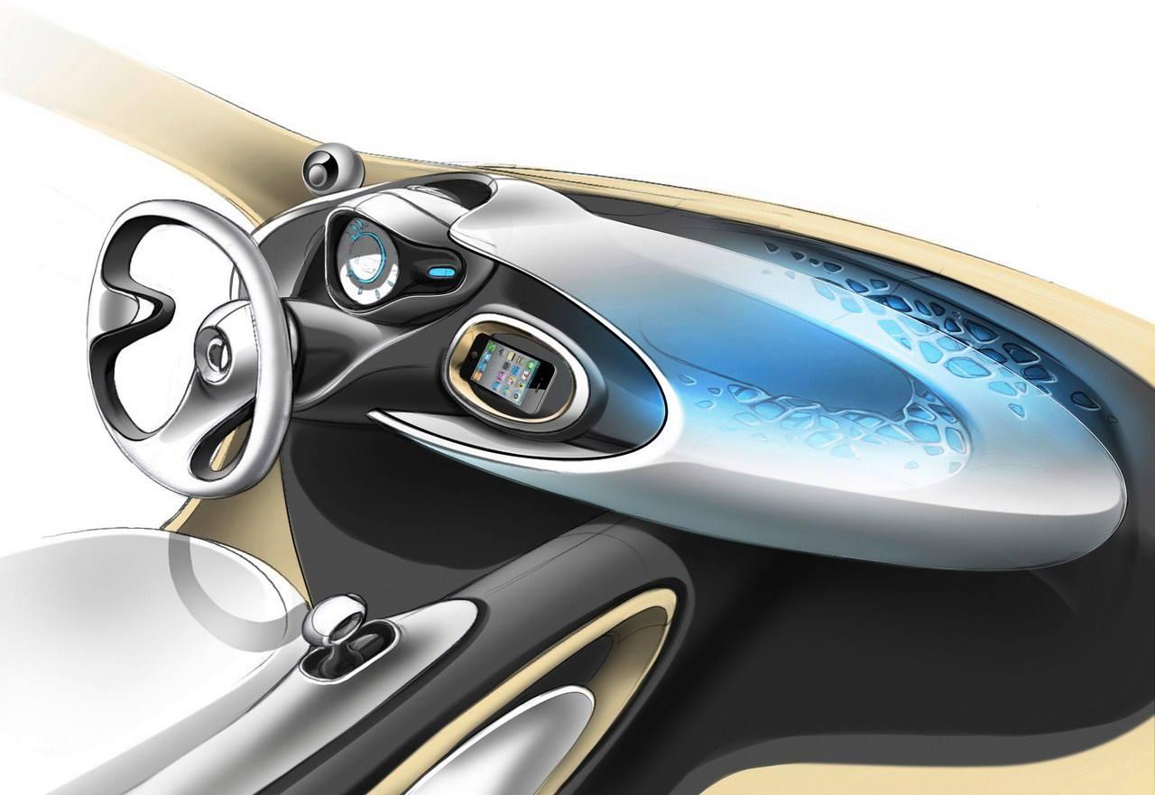 Interior sketch of the Smart Fourjoy Concept