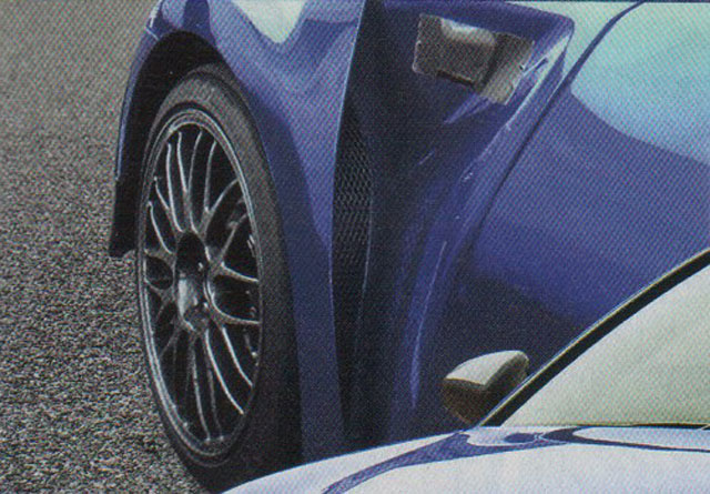 Lexus GS F air vents on the wheel arch