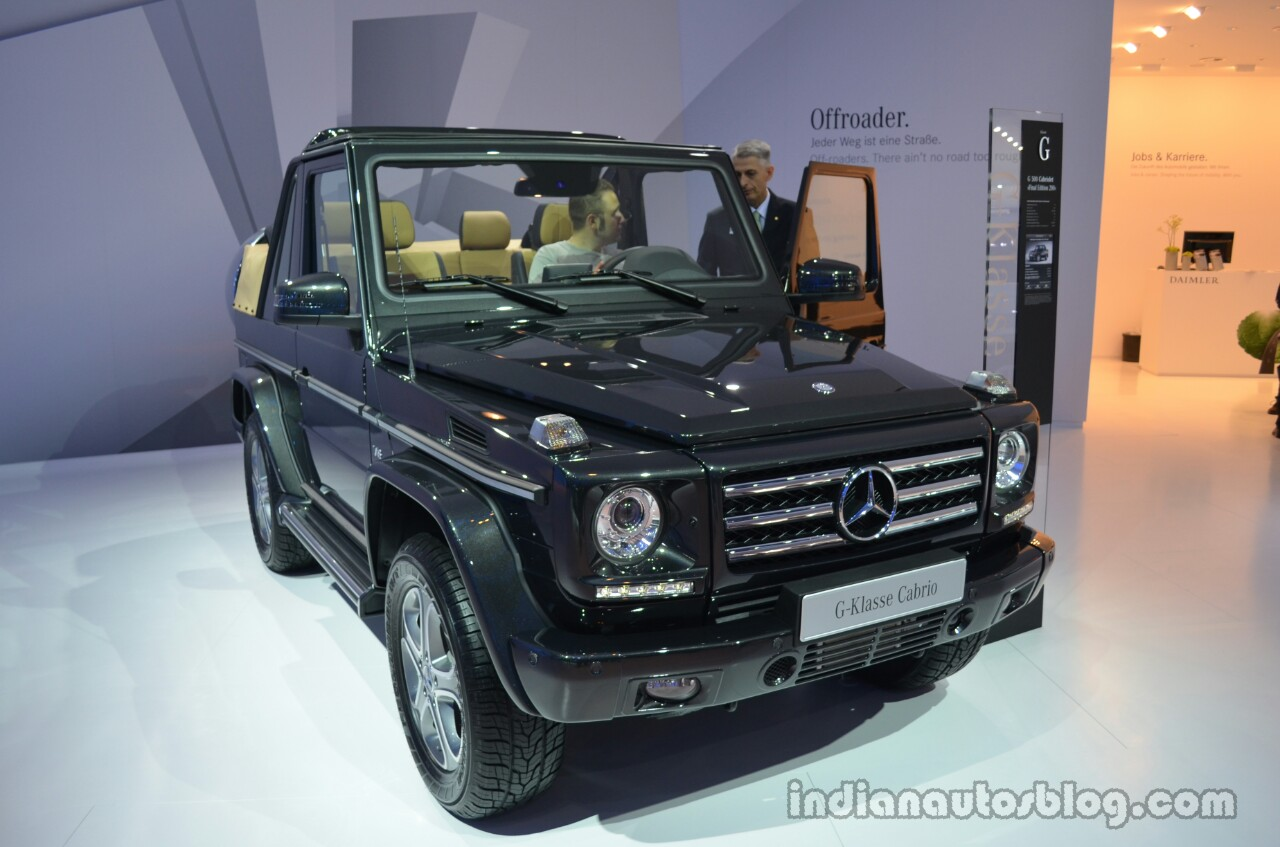 Mercedes G Class Cabriolet Final Edition 200 Shown At Iaa