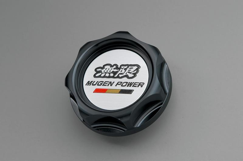 Mugen black radiator cap for 2014 Honda Jazz