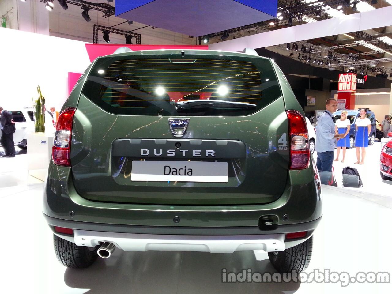 Rear fascia of the 2014 Dacia Duster facelift