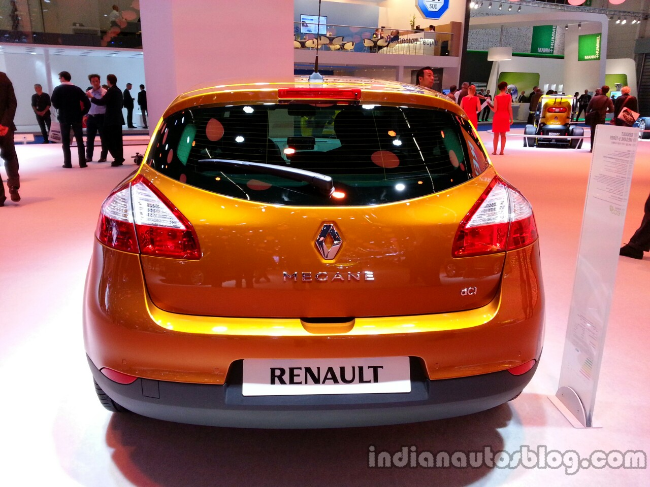 Rear of the 2014 Renault Megane