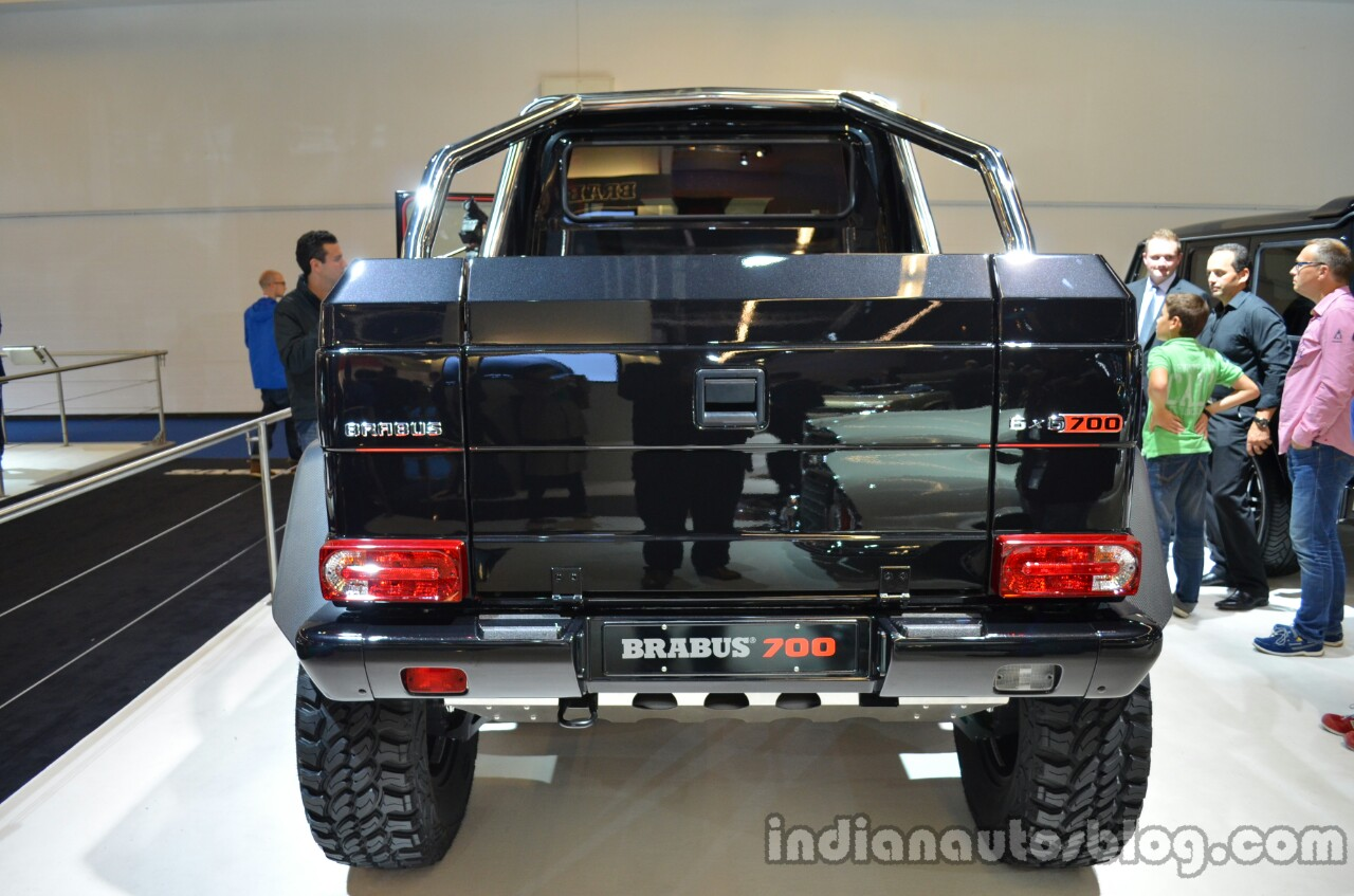 Rear of the Brabus B63S-700 6x6
