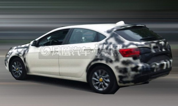 Rear of the Fiat Viaggio hatchback spied in China