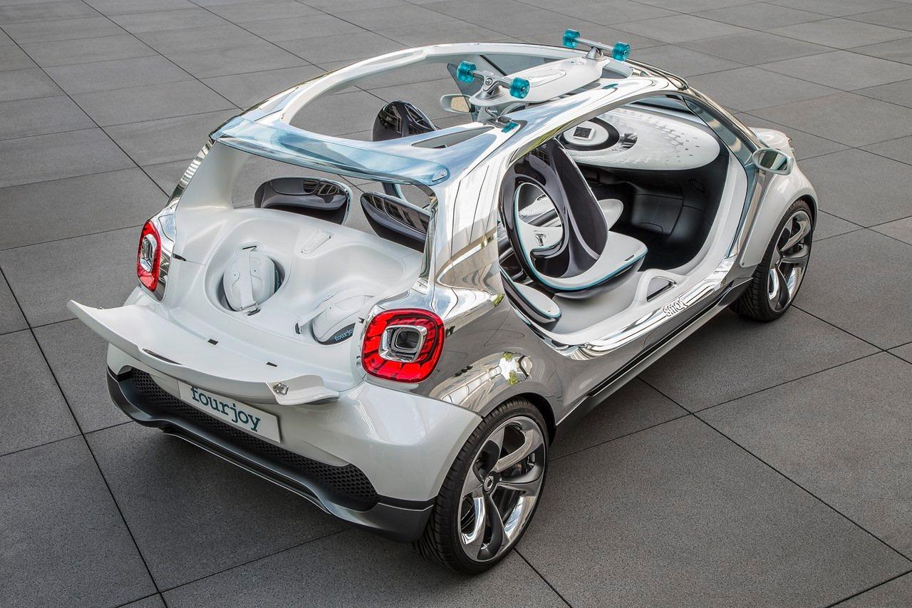 Rear three quarter top of the Smart Fourjoy Concept
