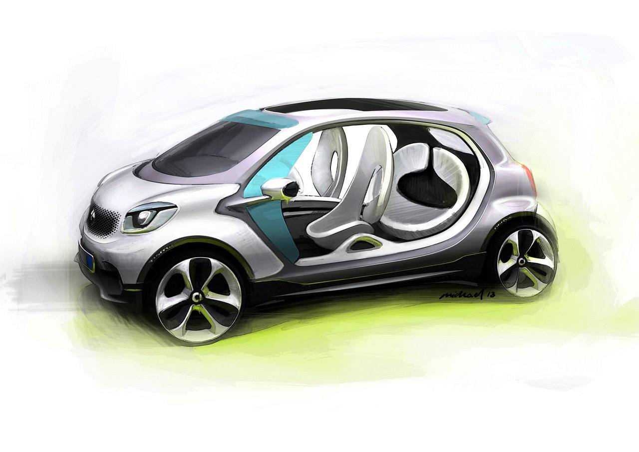Side sketch of the Smart Fourjoy Concept