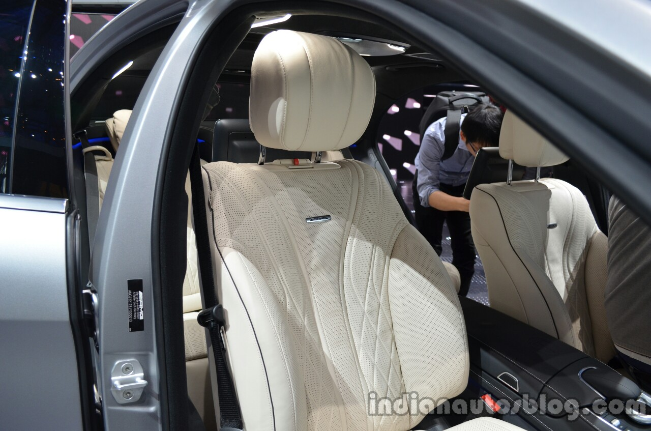 Sports seats of the 2014 Mercedes S 63 AMG