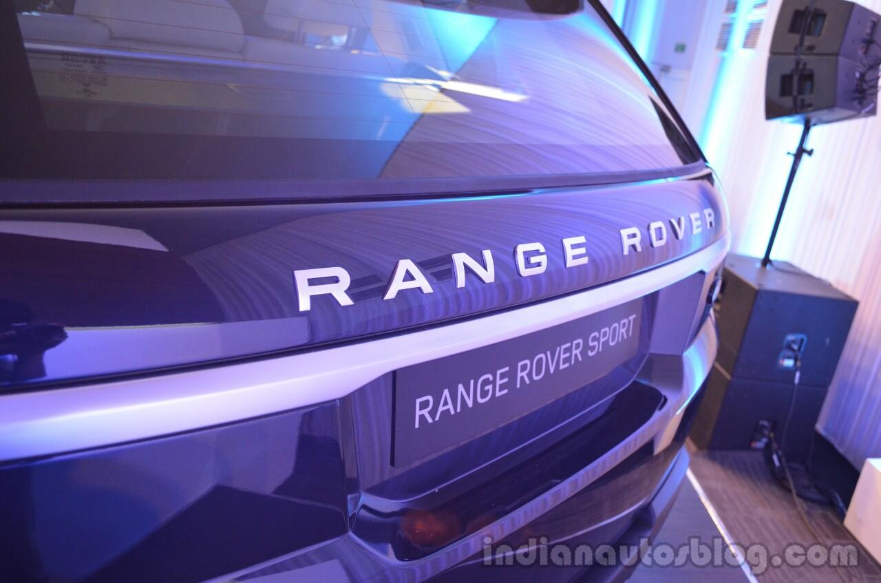 2014 Range Rover Sport India logo rear