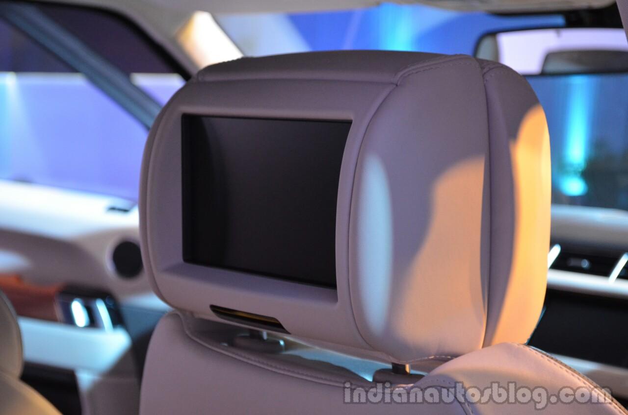 2014 Range Rover Sport India rear DVD screen