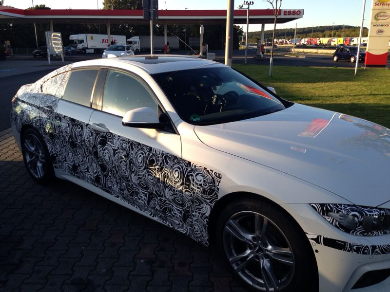 BMW 4 Series Gran Coupe spied front three quarters