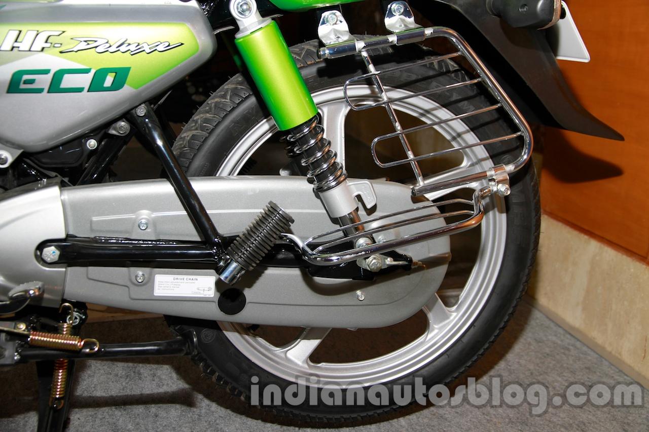 Hero HF Deluxe ECO rear suspension