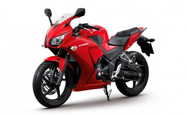 Honda CBR300R red