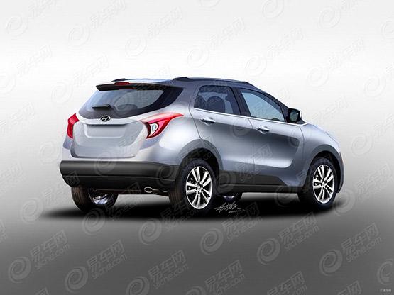Hyundai Mini SUV rendering rear
