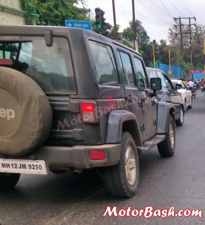 Jeep Wrangler four door spied India