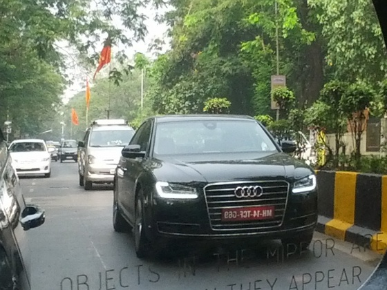 2014 Audi A8 facelift spied India