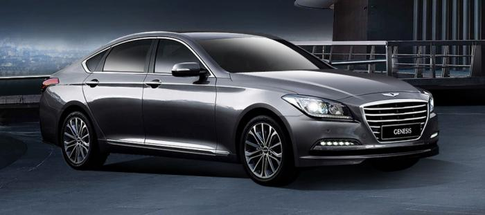 2014 Hyundai Genesis launched front quarter