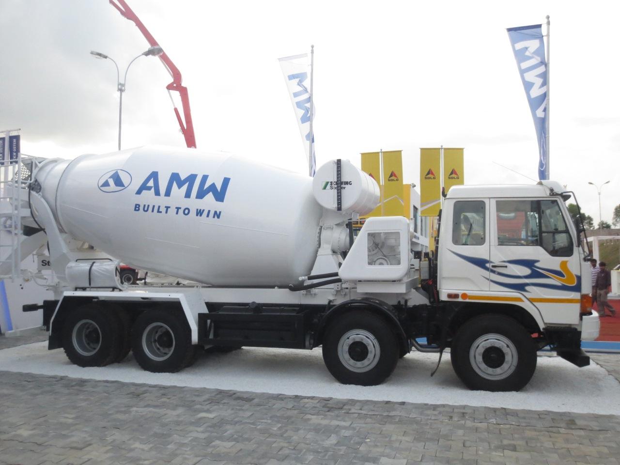 AMW 3118 TM transit mixer at EXCON 2013