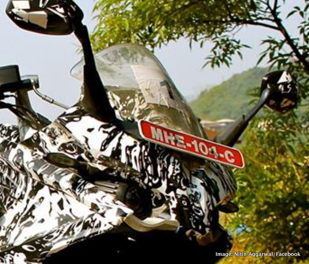 Bajaj Pulsar 200SS spied projector headlights