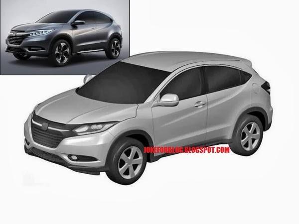 Honda Urban SUV patent leak front three quarters