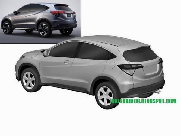 Honda Urban SUV patent leak rear three quarters