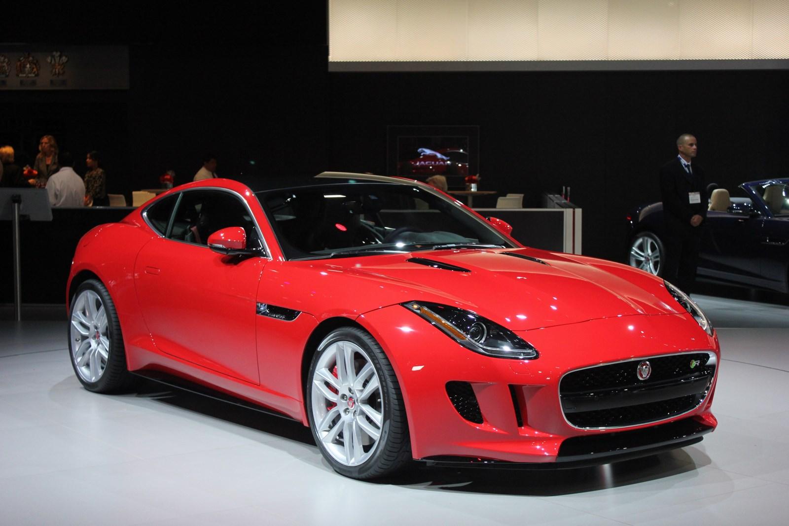 Jaguar F-Type R Coupe at LA Auto Show front three quarters left