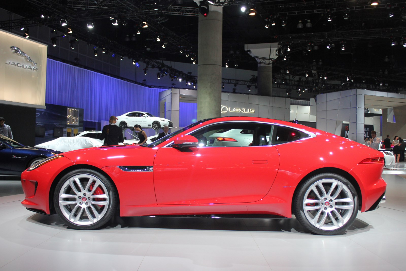 Jaguar F-Type R Coupe at LA Auto Show side view 3
