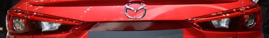 Mazda Axela taillight and bootlid