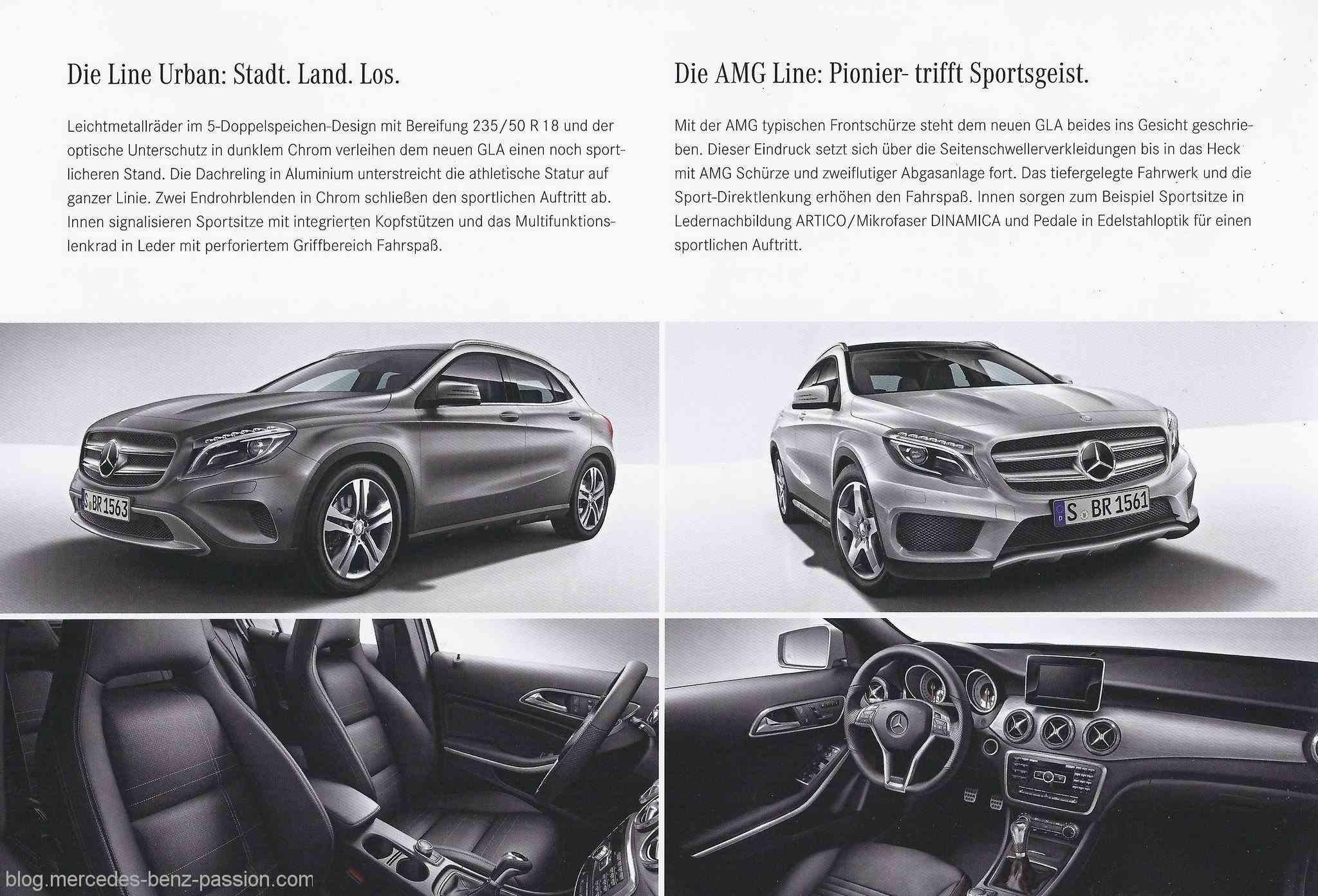 Mercedes GLA brochure Urban