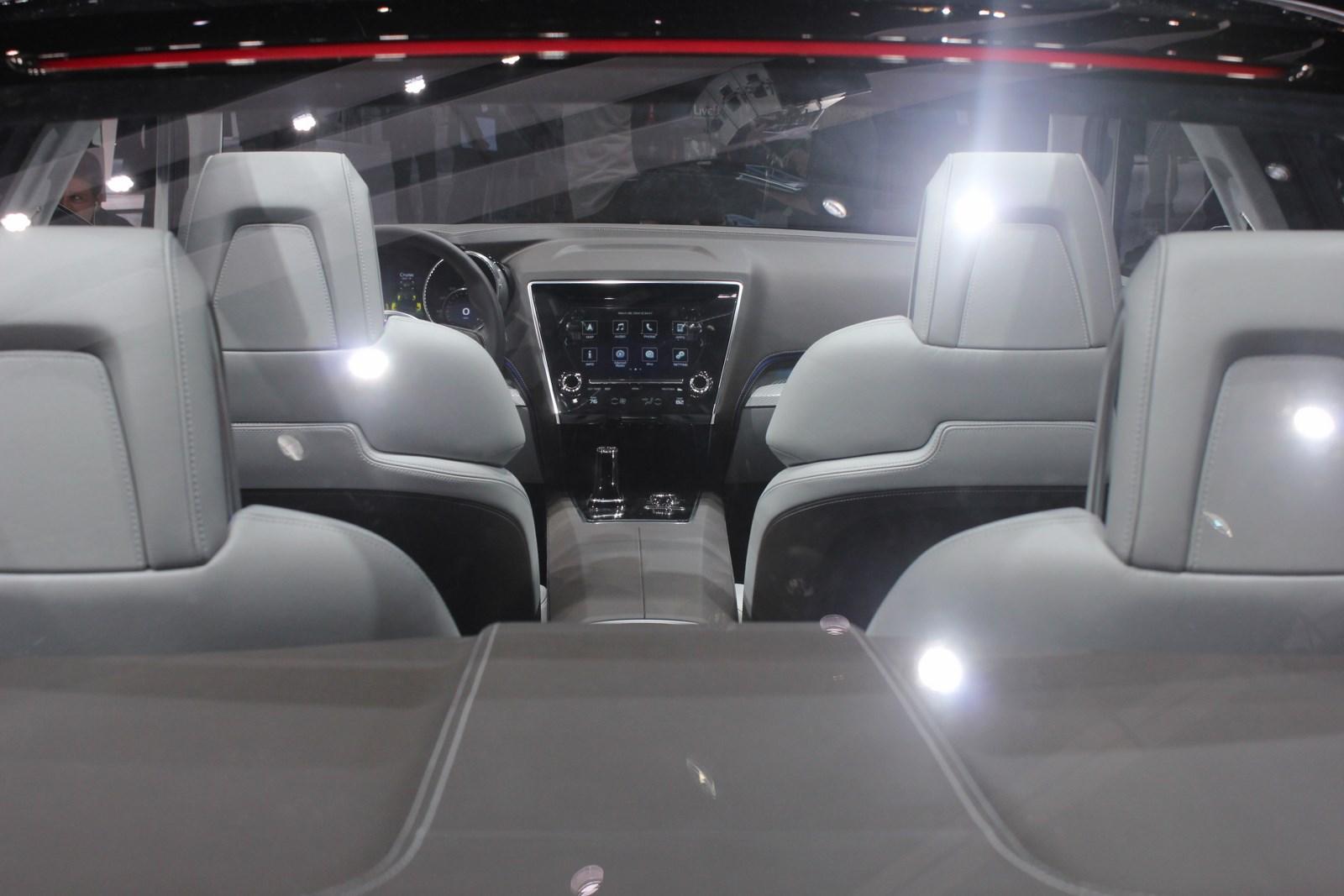 Subaru Legacy Concept cabin from rear