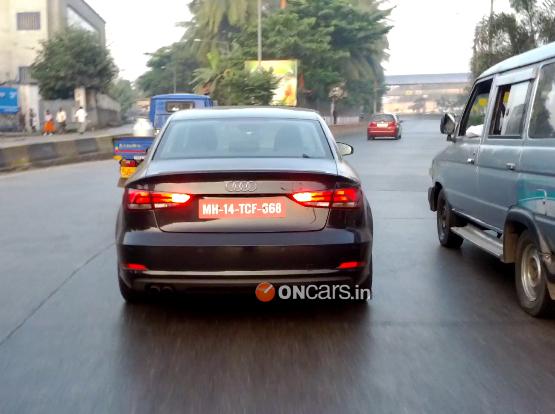 Audi A3 Sedan spied