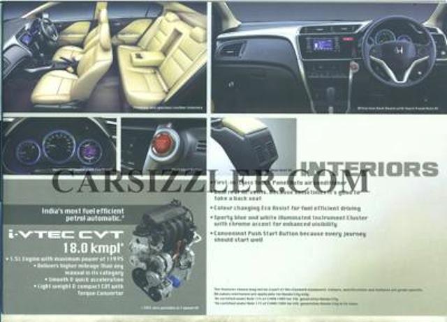 2014 Honda City brochure scan 2