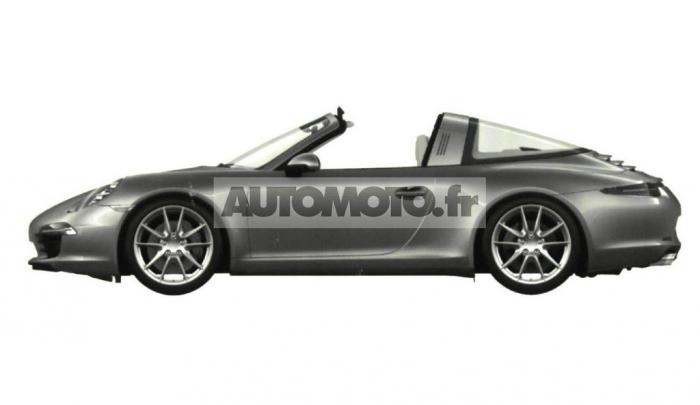 2014 Porsche 911 Targa leaked side