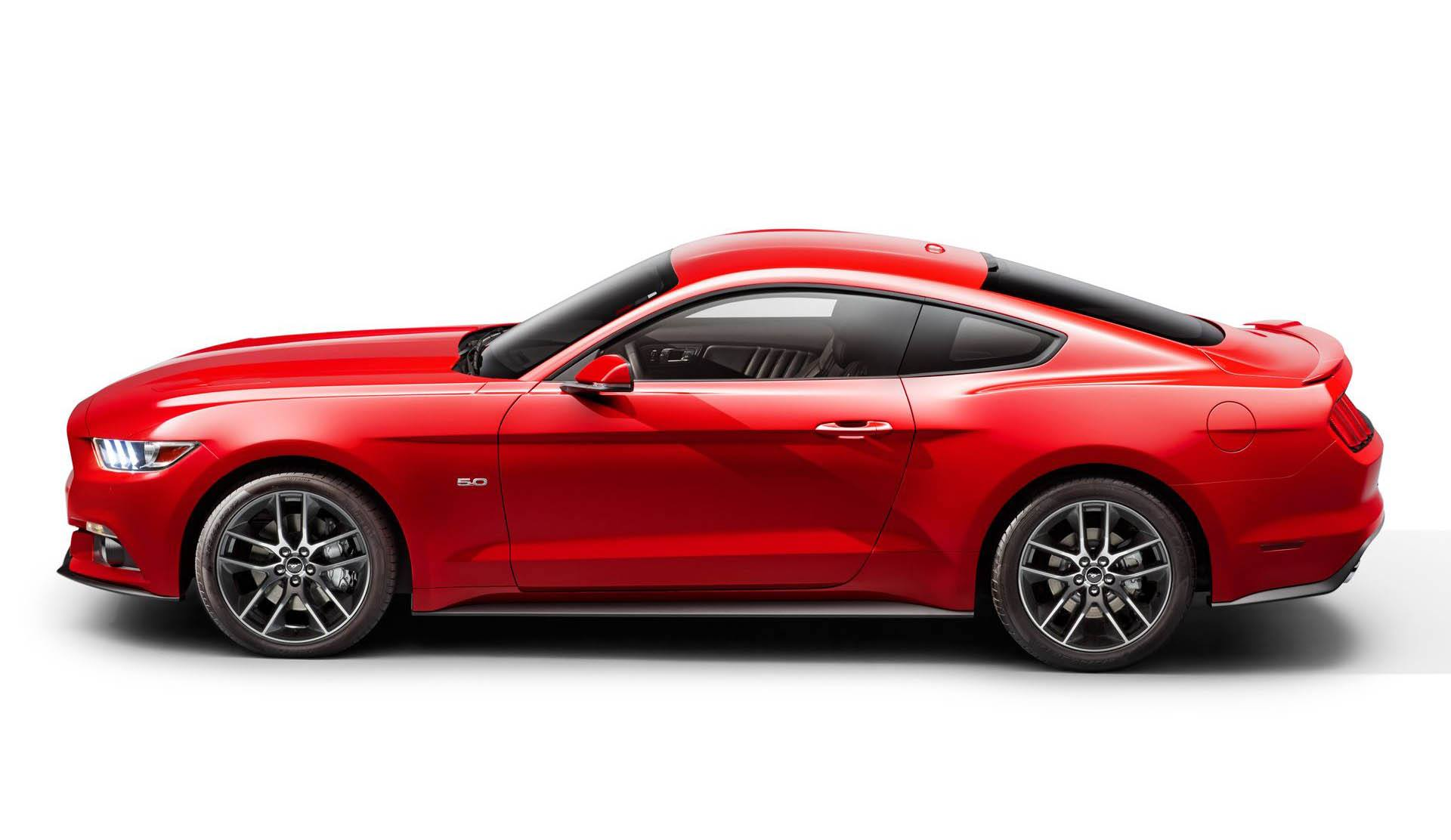 2015 Ford Mustang side view leaked press shot