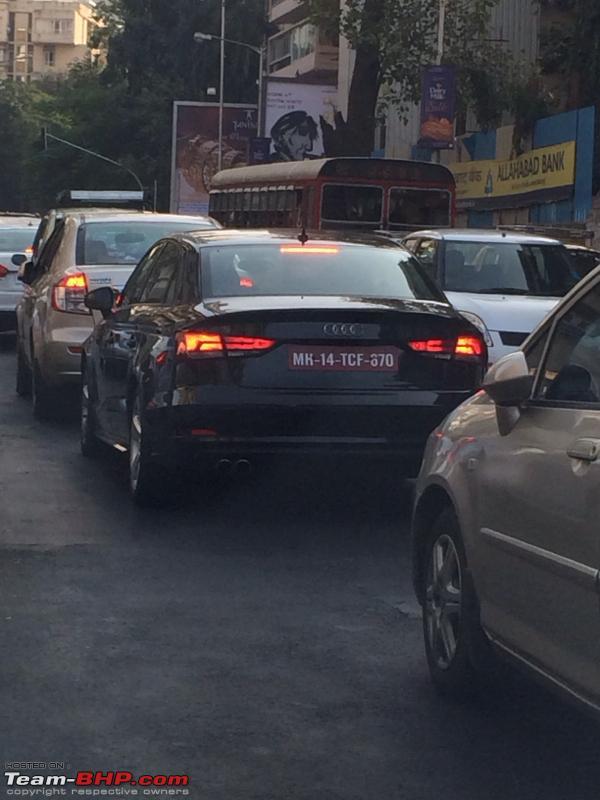 Audi A3 sedan spotted in Mumbai testing by a forum member