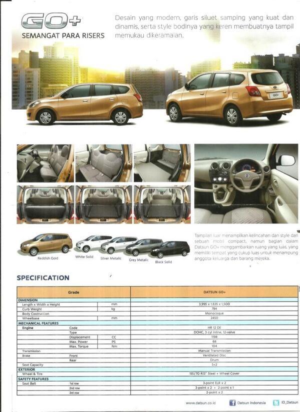 Datsun Go+ Brochure