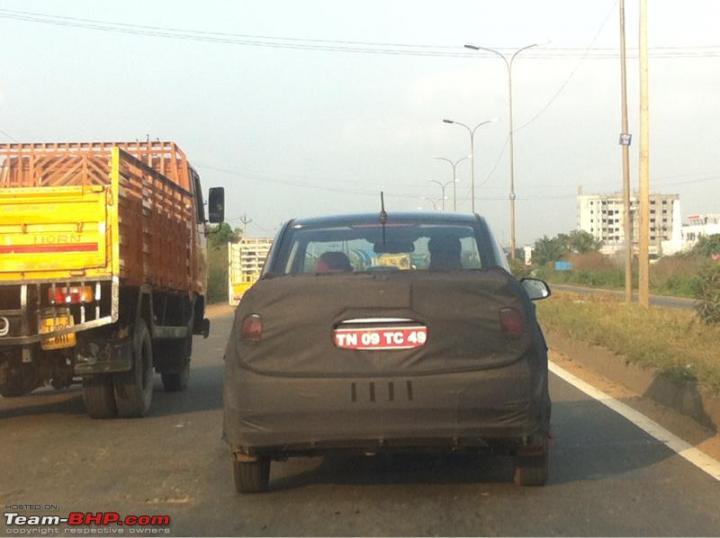 Hyundai Grand i10 sedan spied rear image