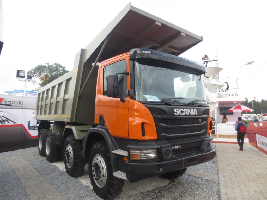 Scania P 410 EXCON 2013 front tipper