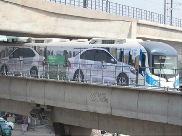 Skoda Rapid on Gurgaon Rapid Metro