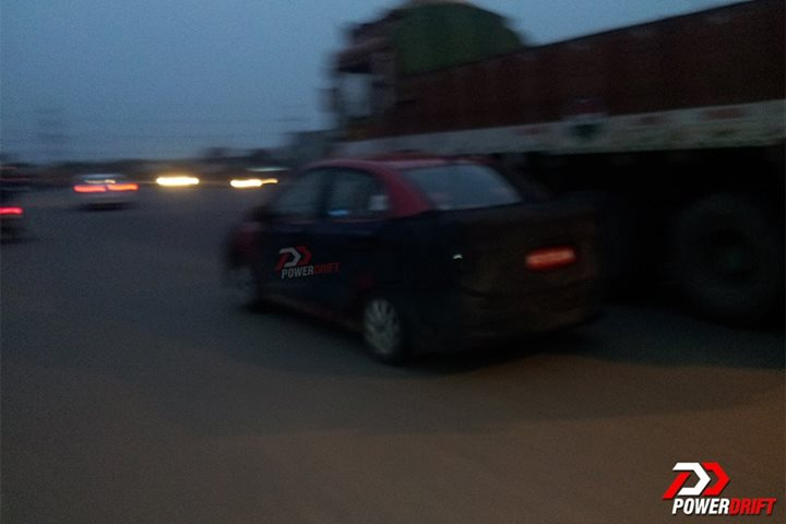 Spied Hyundai Grand i10 Sedan rear 2