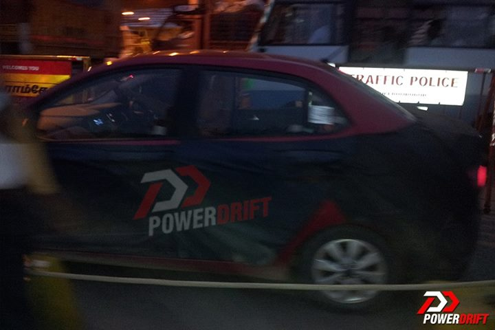 Spied Hyundai Grand i10 Sedan side