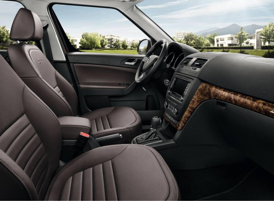 2014 Skoda Yeti Special Edition seats
