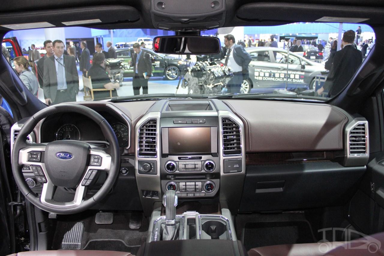 2015 Ford F-150 dashboard view at NAIAS 2014