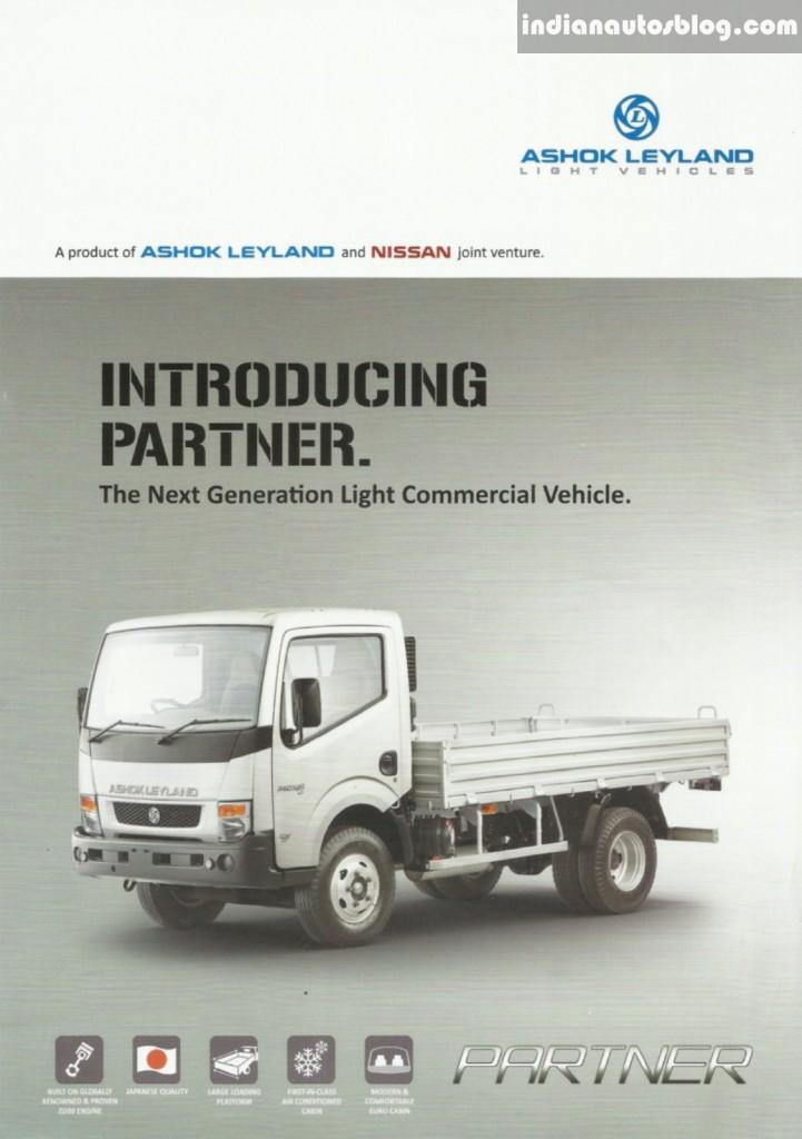Ashok Leyland Partner brochure front