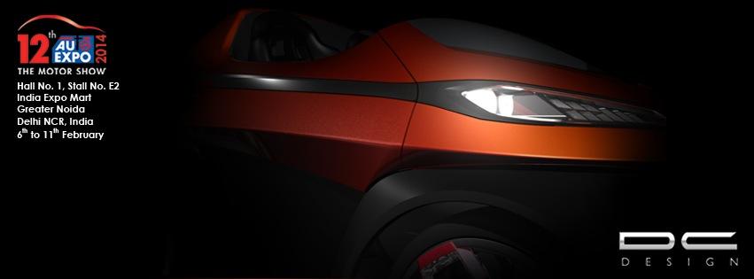 DC Design sub-Nano car teased Auto Expo 2014