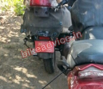 Mahindra 110cc Scooter G301 spied again rear