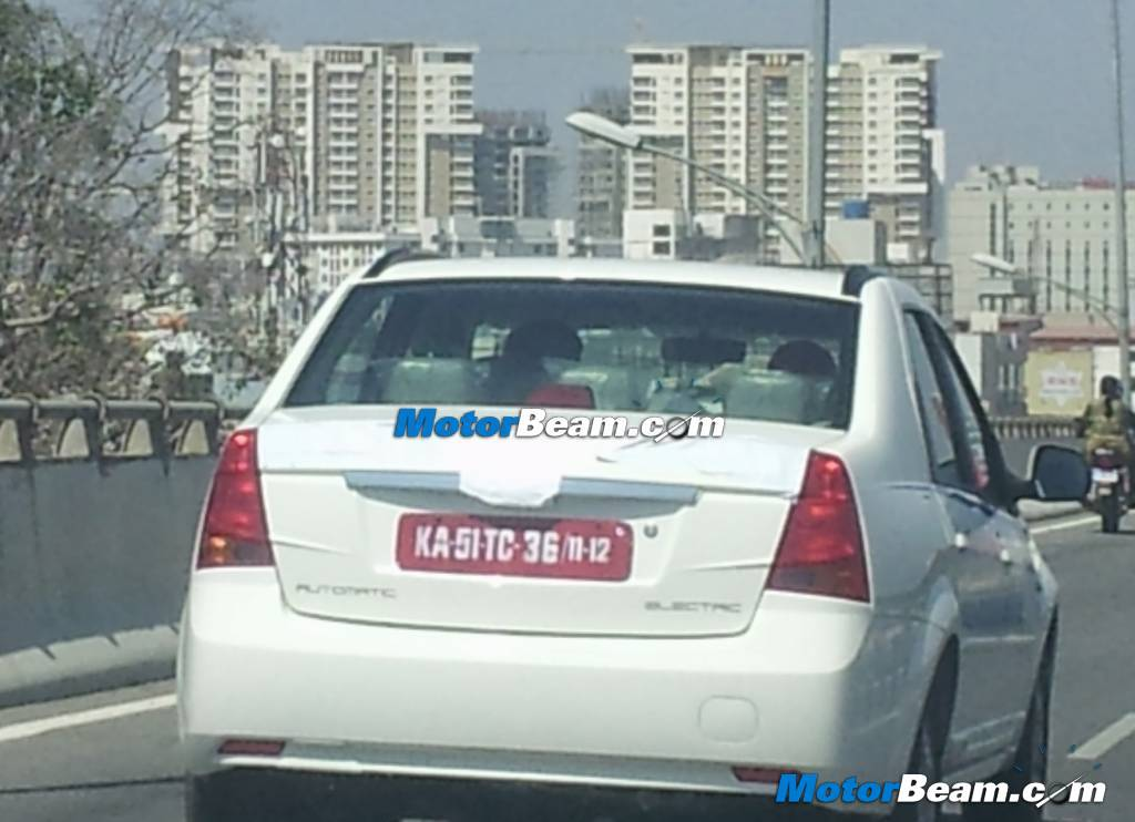 Mahindra Verito Electric Vehicle Spied rear