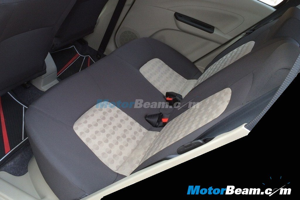 Maruti Celerio rear seats spy shot