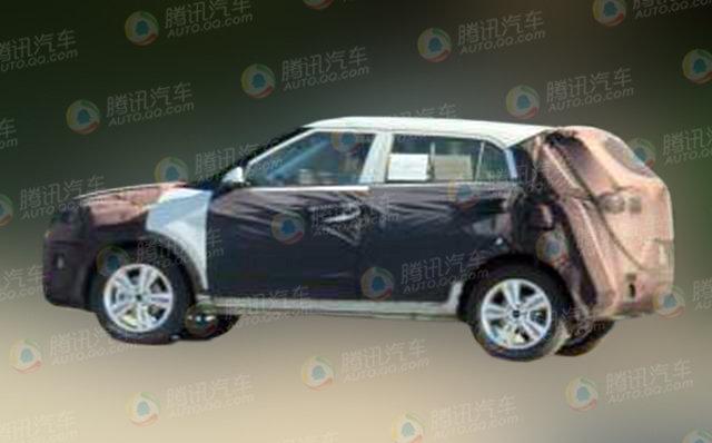 Spied Hyundai Mini SUV in China side