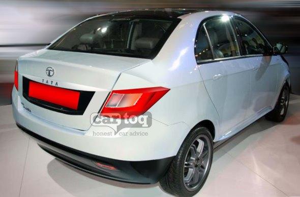 Tata Falcon sub-4meter compact sedan rendering