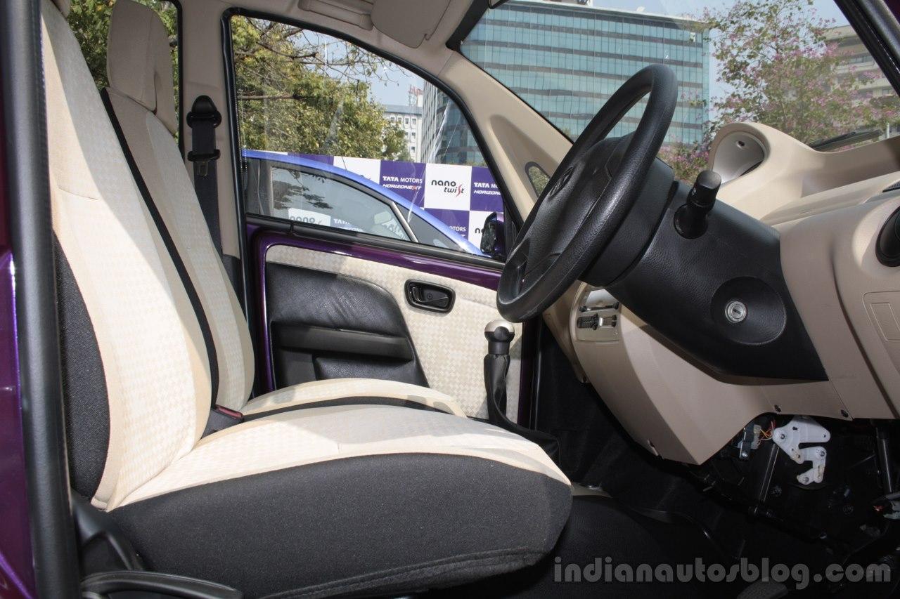 Tata Nano Twist front interior seats